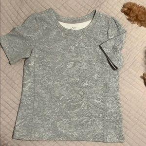 LOFT gray sweatshirt top